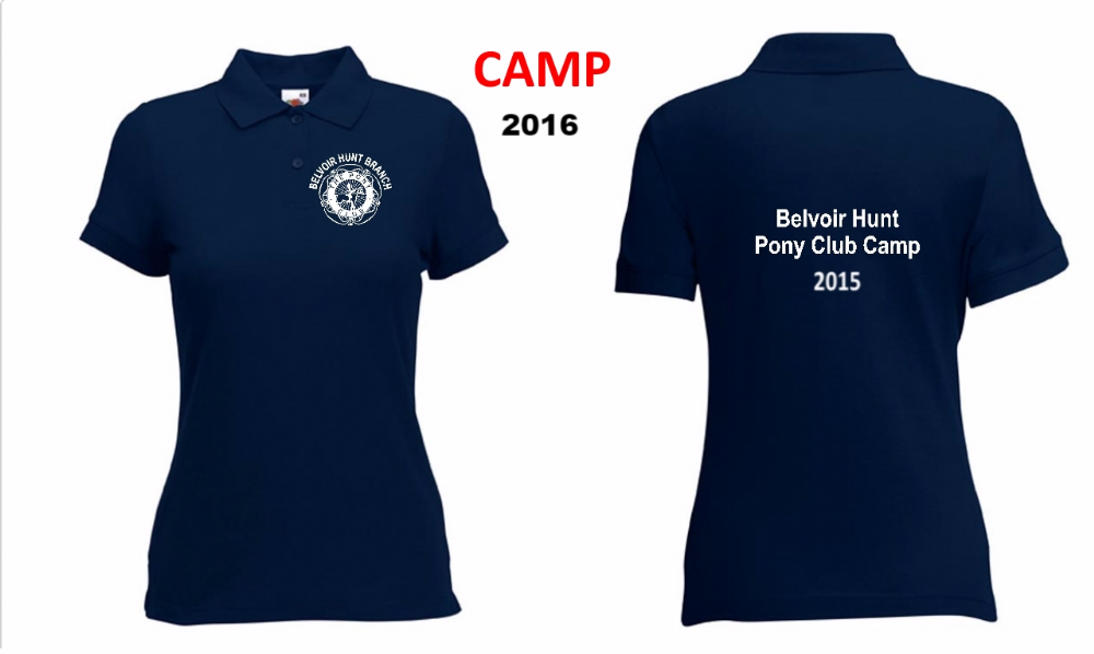 Ladies Fit Belvoir 2018 CAMP Polo Shirt - Navy